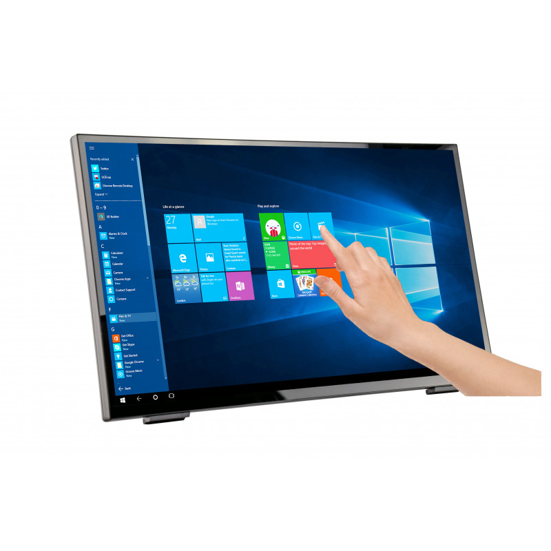 MONITOR M-TOUCH HANNSPREE LCD LED 23.8 WIDE HT248PPB 8MS MM FHD 3000:1 BLACK VGA HDMI DP USB 3.0 VESA